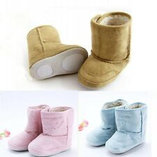 Baby Infant Toddler Crib Shoes Boys Girls Fur Winter Snow Shoes Boots 0-18M J72
