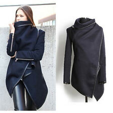 Womens Slim Wool Warm Long Coat Jacket Trench Windbreaker Parka Outwear Overcoat