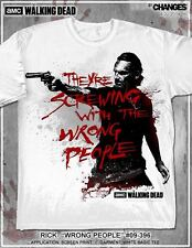 THE WALKING DEAD AMC RICK SCREWING WITH WRONG PEOPLE TERMINUS T TEE SHIRT S-3XL