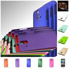 For HTC One (E8) - Slim Back Case Hard Rubber Shell Phone Cover