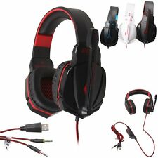New Gaming Headset EACH G4000 3.5mm LED Stereo Headphone with Mic for PC