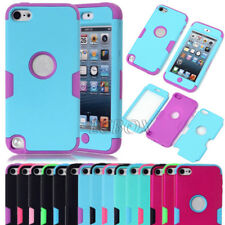 Rubberized Coating Matte PC Soft Silicone Hybrid Cover Case For iPod Touch 5 Gen