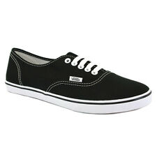 Vans Authentic Lo Pro Womens Canvas Black White Trainers New Shoes All Sizes