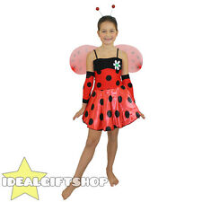 KIDS LADYBUG FANCY DRESS COSTUME LADY BIRD INSECT CUTE LADY BUG GIRLS OUTFIT