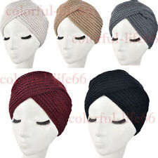 Women's Knitted Beanie Headband Crochet Headwrap Winter Warm Hat Turban Hairband