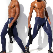 Men Sports Trousers Elastic Tight Swimming Trunks Cycling Running Gym Long Pants