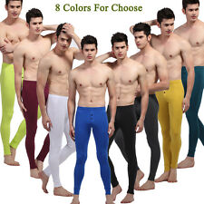 Brand Mens Cotton Buttons Thermal Bottom Underwear Long JohnsSize S M L XL 4010