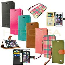 caseen Luxury Wallet Leather Stand Case Cover for Apple iPhone Smart Cell Phone