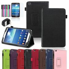 Folio Leather Case Cover+Protector For Samsung Galaxy Tab 3 8.0 8-inch Tablet