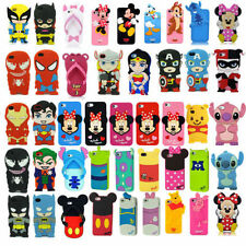 3D Superhero Soft Cartoon Silicone Rubber Cover Case For Apple & Samsung Galaxy