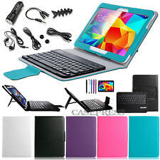 "For Samsung Galaxy Tab 4 10.1"" Bluetooth Keyboard Leather Case Cover + Accessory"