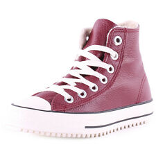 Converse Chuck Taylor All Star Winter Boot Womens Leather Oxblood Trainers New