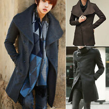 2014 Winter Fashion Korean Warm Mens coat long overcoat Trench jacket Slim Fit