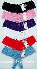 1 pcs or Lot of 6 pcs,Open Crotch Lace Thong Panties,85% Nylon S,M,L,XL NEW #111