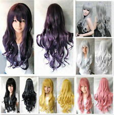 Women Curly Wavy Hair Full Wigs Cosplay Heat Resistant Cosplay Anime Wigs Long