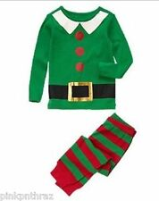 New Crazy 8 by Gymboree Elf Pajama Set Gymmies Christmas Unisex Pjs Holiday