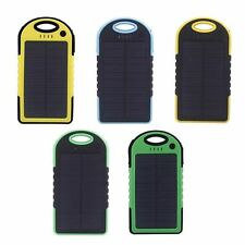 Solar Panel Charger 5000mAh Rain-resistant and Dirt/Shockproof Dual USB Backpack