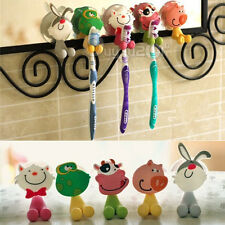 Funny Cartoon Toothbrush Holder Stand Family Set Wall Bathroom Hanger Sucker Cup