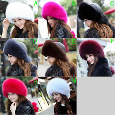 Winter Women Real Fox Fur Hat Russian Mongolia cap Ski hats new Princess cap