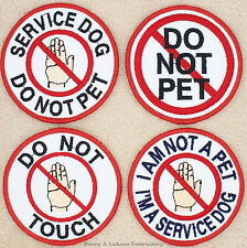 1 SERVICE DOG DO NOT PET ROUND PATCH 3 INCH Danny & LuAnns Embroidery