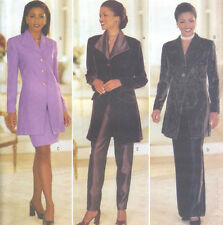Misses Lined Evening Jacket Skirt Pants Sewing Pattern Waistband Butterick 4741