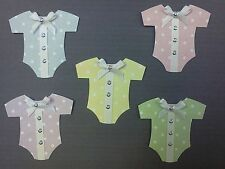 BABY ROMPER SUIT CARD MAKING EMBELLISHMENTS. BABY SCRAPBOOKING  EMBELLISHMENTS