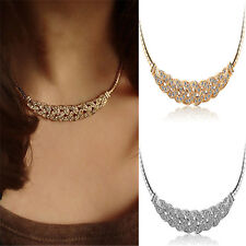 Womens Pendant Chain Crystal Choker Chunky Statement Charm Bib Necklace Jewelry