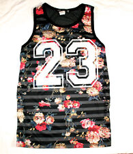 KONFLIC FLORAL PRINT VACATIONS TANK TOP SHIRT SUN OUT GUNS OUT URBAN MENS WEAR