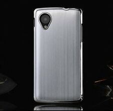 Metal Aluminum Brushed Back Skin Cover Hard Case For New Google Nexus 5 LG D820