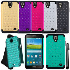 For Samsung Galaxy Mega 2 G750F Dazzling HYBRID Rubber Case Phone Cover + Pen