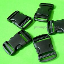Side Release Buckles Black Adjustable Clasps Straps For Paracord Bracelets 1.5""