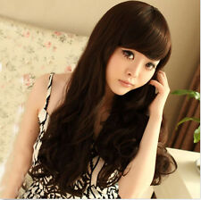 New Women's Long Wavy Curly Hair Full Wigs Girl Cosplay Party Wigs Synthetic Wig
