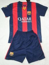 new 2014-2015 BARCELONA  home shirt and short 3-14 years print NAME + NUMBER