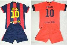new 2014-2015  NO.10 MESSI BARCELONA shirt and short 3-14 years