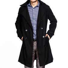 Mens Fashion Warm Double Breasted Trench Coat Winter Long Jacket Overcoat