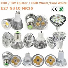 GU10 MR16 E27 15W/12W/9W/7W/5W/3W LED Lights Bulb Lamp SMD/COB/Epistar Spotlight