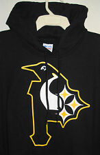 Pittsburgh Steelers Penguins Pirates Hoodie Size L-5XL Black & Gold Morphed NEW