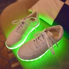 LED Light Up Flats Shoes Sports Casual Women's Round Toe Winter Warm Christmas