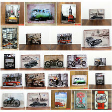 Motorcycle  Car Vintage Metal Sign Tin Poster Pub Bar Cafe Shop Home Wall Decor