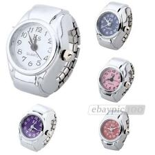 Unisex Alloy Round Quartz Pocket Finger Ring Watch Time Piece Dial