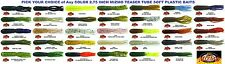 Mizmo Tubes Bass 2.75 Inch Teaser Soft Plastic Baits Any Color 12 Count Pack