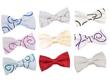 Men's Scroll Satin Evening Work Special Occasion Wedding Groom Pre-Tied Bow Tie