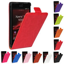 Slim Magnetic Retro Design Flip Wallet Leather Hard Case Cover For Sony Phones