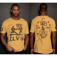 Roots of Fight Elvis Karate Photo T-Shirt - Yellow