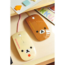 cute Bear Wired Cartoon Mouse USB Mice for Laptop PC Computer Notebook Mouse