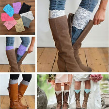 Stretch Lace Boot Cuffs White Lace Topper Boot Cuff Leg Warmers Free Shipping