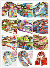 Abstract 100% Multicolor Silk Animals Colorful Soft Shawl Scarf Stole Wrap