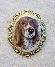 NEW VICTORIAN CAMEO BROOCH DOG PET FRIEND CANINE LOVE PUPPY BARK ANIMAL TAIL FUR
