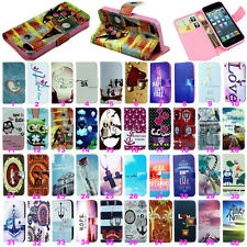 Fashion Stand Flip Wallet Leather Hybrid Case Cover For iPhone 4 4S 5 5S 5C 6 6+