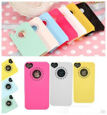 Lace Hollow Heart Flower Girl Lady Hard Case Cover Skin for iPhone 4 4S 5 5S
